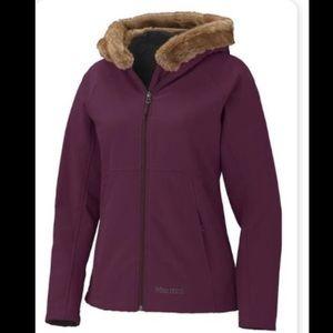 Marmot Furlong Jacket Size XS Eggplant With Fur